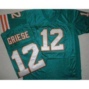 Bob Griese Green Stitched Jerseys
